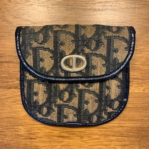 Fabulous DIOR Vintage Trotter Navy Coin Purse